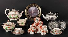 Group of English Porcelain Articles