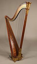 Naderman Parcel-Gilt Brass and Wood Harp