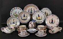 Large Group of Quimper Ceramic Articles