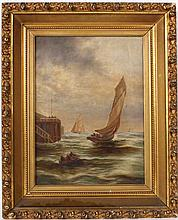 Oil on Canvas, Maritime Scene