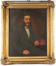 Oil on Canvas, Portrait of Gentleman