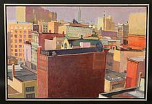 Oil on Board, West Side Afternoon, W.D. Barnes