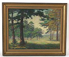 Oil on Canvas, Forest Scene, Ida Wells Stroud