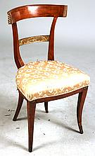 Neoclassical Parcel-Gilt Mahogany Side Chair