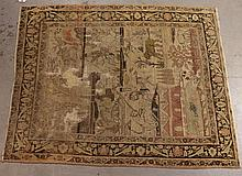 Persian Pictorial Throw Rug