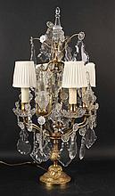 Neoclassical Five-light Drop Prism Lamp