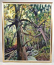Oil on Canvas, Trees, Judith Belzer