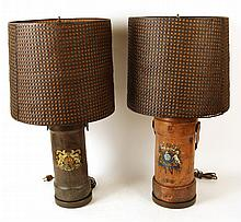Two Similar Leather Buckets