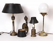 Three Brass Table Lamps