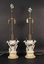 Pair of Meissen-Style Table Lamps