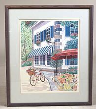 Print, Street Scene with Bicycle