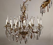 Louis XV Style Gilt-Metal and Crystal Chandelier