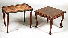 Neoclassical Brass Mounted Marquetry Side Table