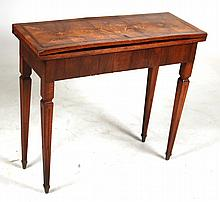 Neoclassical Style Marquetry Games Table