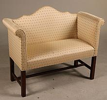 Southwood Chippendale Style Mahogany Settee