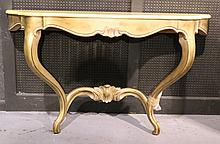 Louis XV Style Gold-Painted Console Table