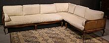 French Provincial Style Mahogany Sectional