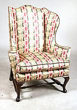 Queen Anne Style Mahogany Easy Chair
