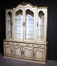 French Provincial Style Paint-Decorated Cabinet