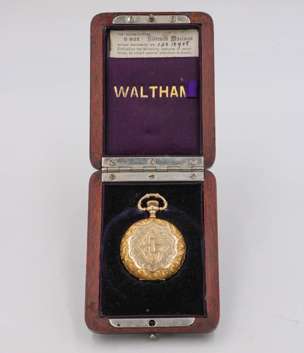 14K Gold Antique Waltham Pocket Watch