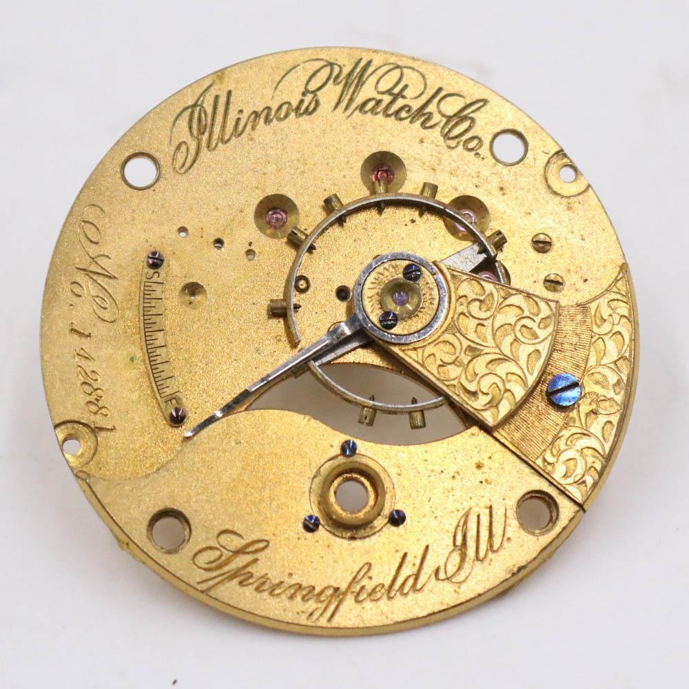 1875 Illinois Watch Company Movement Plates Pin