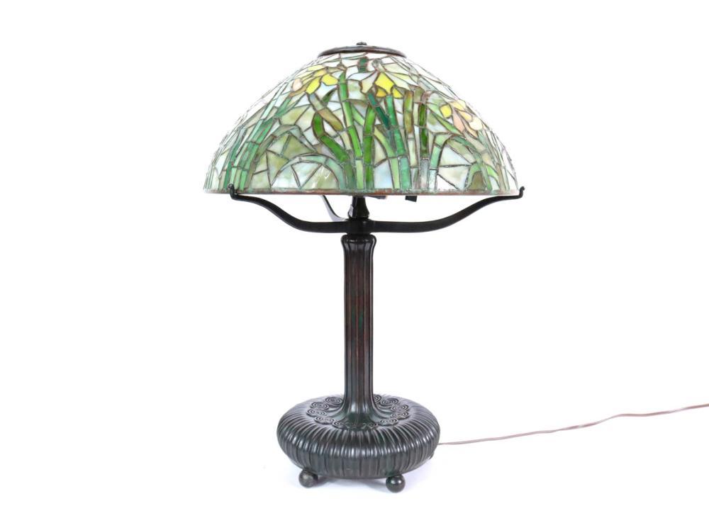 Tiffany Daffodil Bronze Lamp