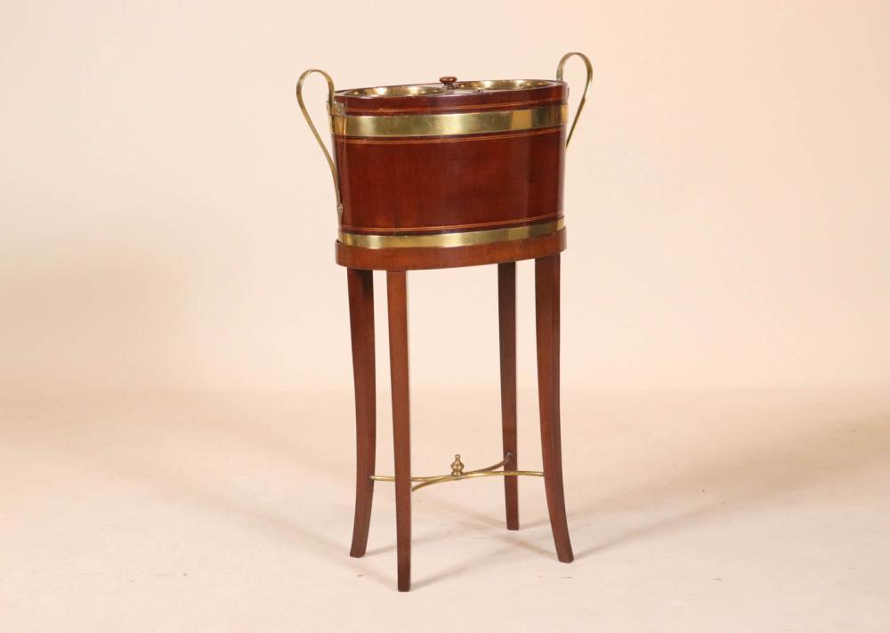 George III Mahogany Two-Bottle Wine Cooler