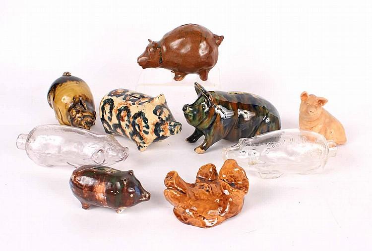 Nine Pig Figures