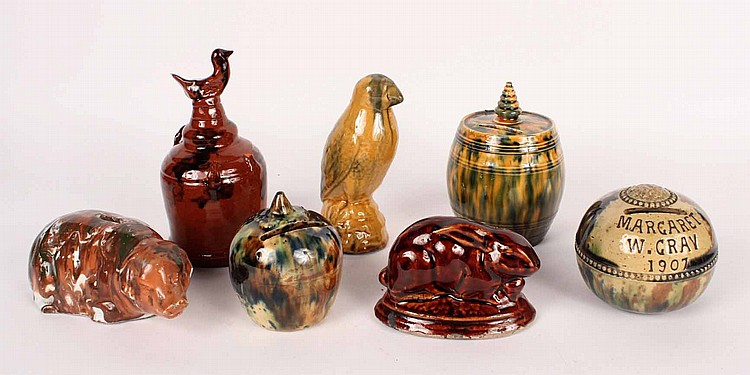 Seven Earthenware Banks