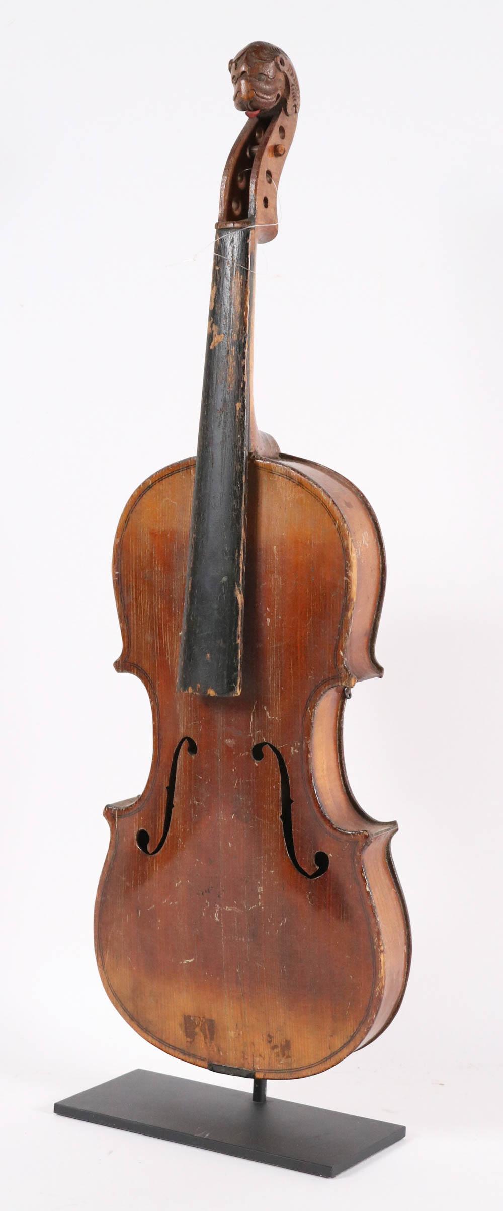 German Lion Headed Violin of American Interest