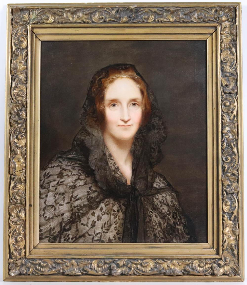 Oil on Canvas, Portrait of Mary Shelley