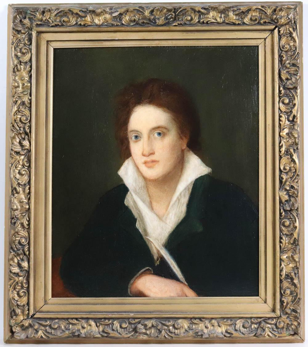 Oil on Canvas, Portrait of Percy Shelley