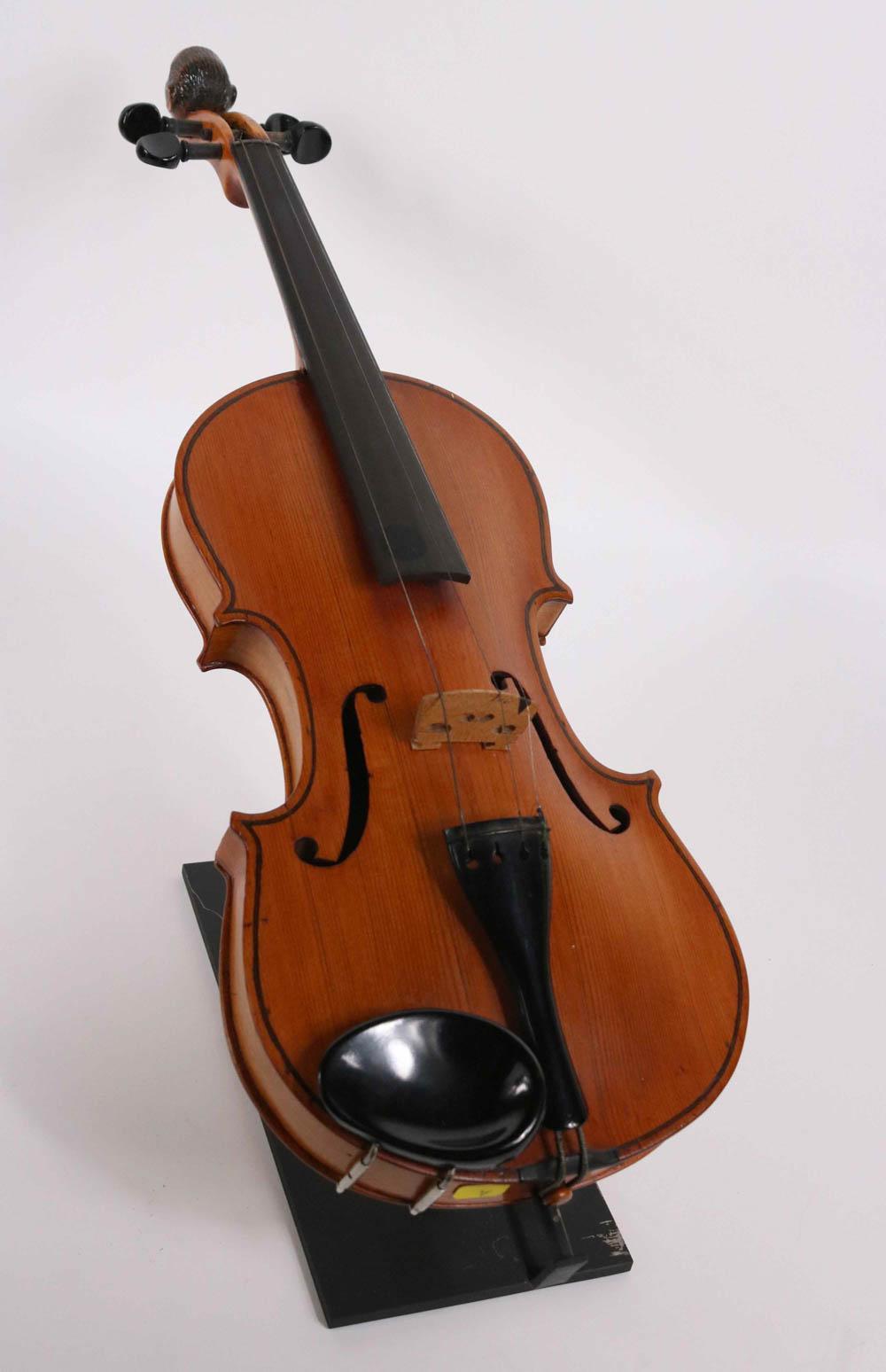 Folk Art Violin, Monkey's Head