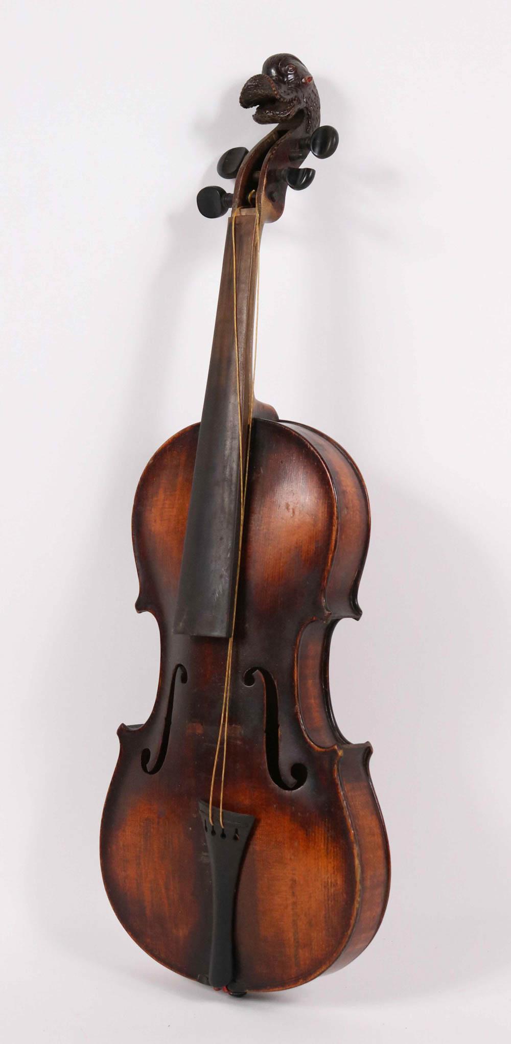 Bohemian, German School Violin, Sea-Monster Head