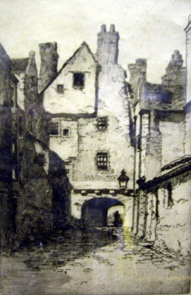 TWO ETCHINGS ON PAPER