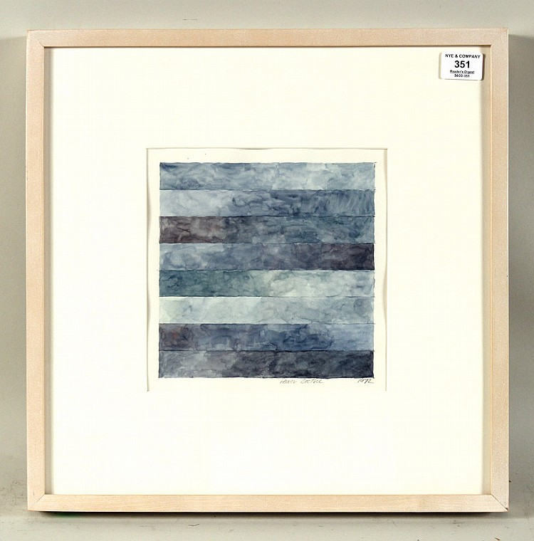 Watercolor, Blue Abstract, Power Boothe