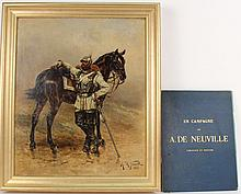 Oil on Canvas, Prussian Cuirassier, A De Neuville