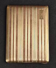 14K Yellow Gold & Rose Gold Cigarette Case