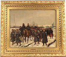 Oil on Canvas, French Militia, Edouard Detaille