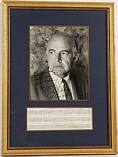 Samuel Barber Musical Quote and Photograph