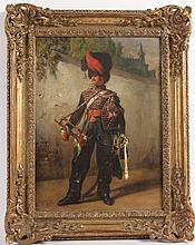 Oil on Canvas, Soldier, Emil Jean Horace Vernet