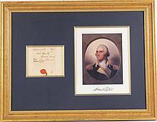 George Washington, Free Frank Address Leaf
