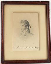 Washington Irving Autographed Engraving