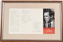 Elliot Carter Concert Program & Autograph