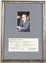 Vincent Persichetti Autograph Musical Quotation