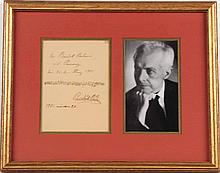 Bela Bartok Autograph Musical Quotation
