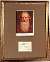 Johannes Brahms Autograph Musical Quotation