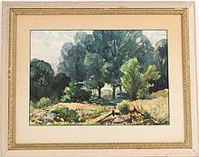 Watercolor on Paper, Meadow&Figures;, Henry Gasser