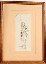 Ink on Paper of a Soldier, Edouard Detaille