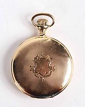 Waltham 14K Yellow Gold Pocket Watch